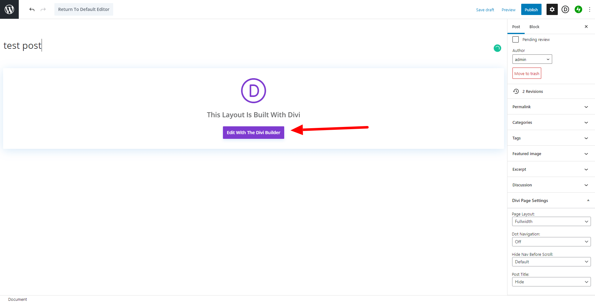 Location of Edit button
